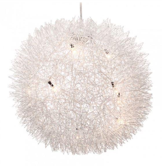 03 Warp Chrome Ceiling Lamp b