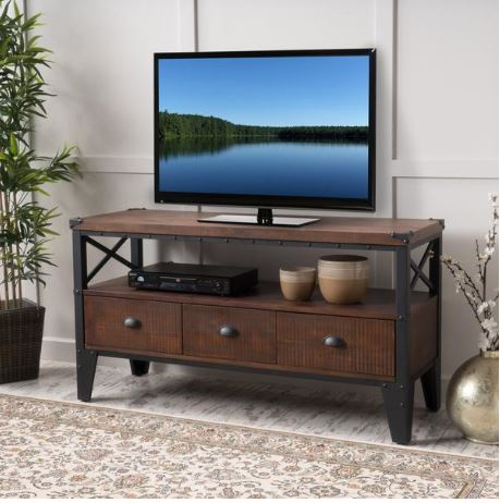 06 Chestin Wood Finish TV Stand A