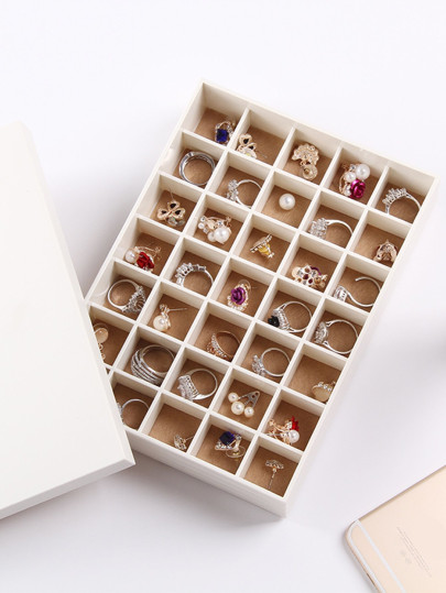 35 Compartment Jewellery Organizer With Cover 1