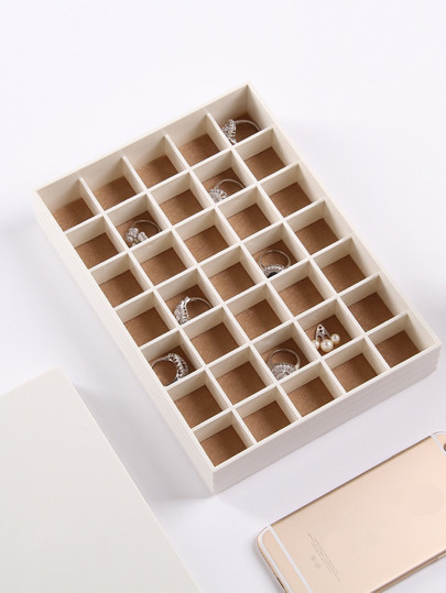 35 Compartment Jewellery Organizer With Cover 2