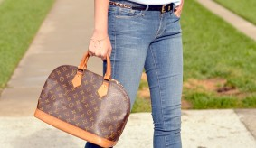 Authentic Louis Vuitton Monogram Canvas Alma PM Tote Handbag Article M53151 Made in France d