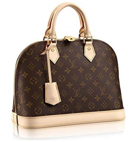 Authentic Louis Vuitton Monogram Canvas Alma PM Tote Handbag Article M53151 Made in France