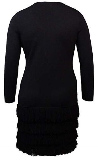 Calvin Klein Deep Women's Medium Fringed Sheath Dress Black M a