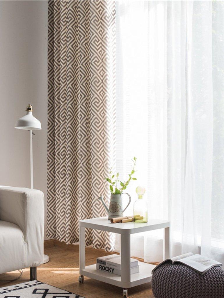 Geometric Print Eyelet Curtain 6