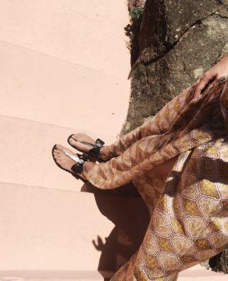 Gold Metallic Black Bow Teardrop Rhinestone Strappy Sandals 3