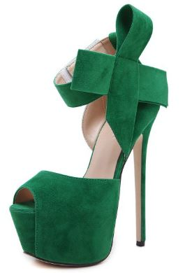 Green Platform Sandals Peep Toe Ankle Strap High Heels Shoes1