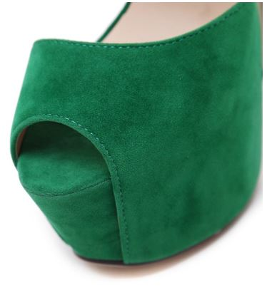 Green Platform Sandals Peep Toe Ankle Strap High Heels Shoes2
