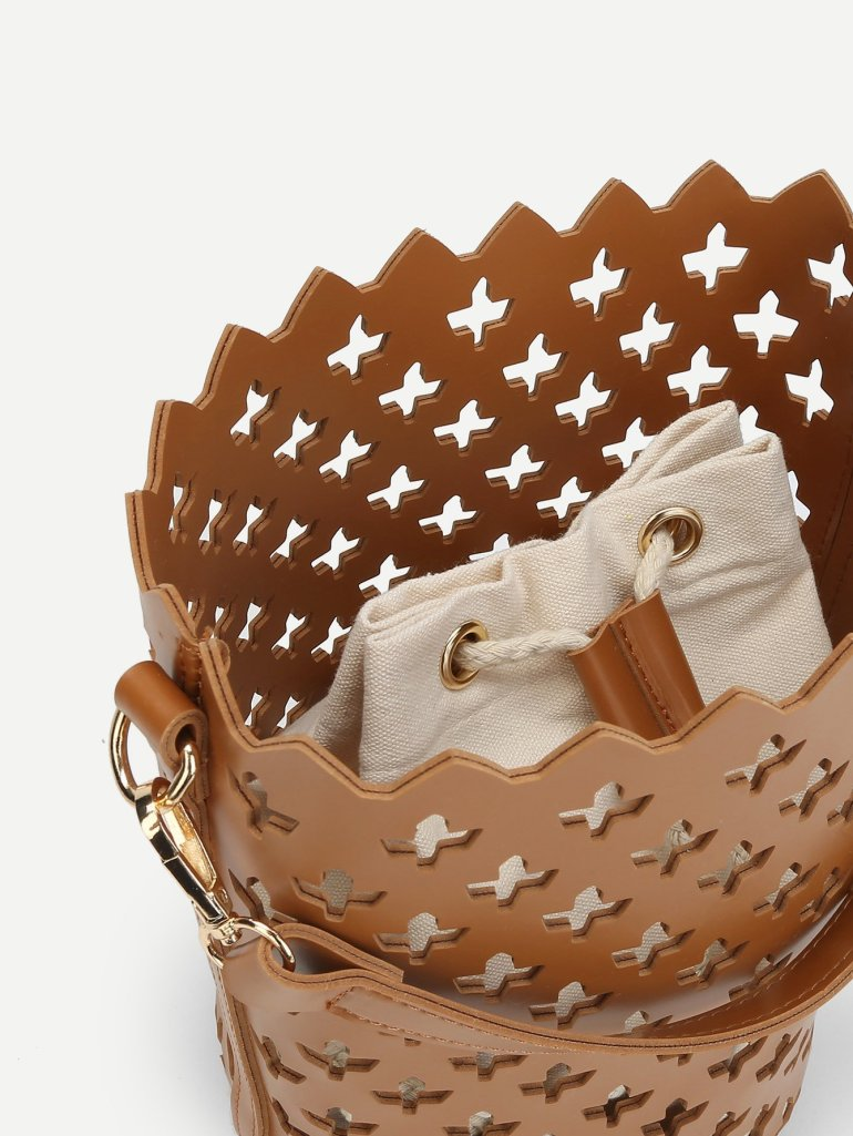 Laser Cut Bucket Bag Inner Pouch 3