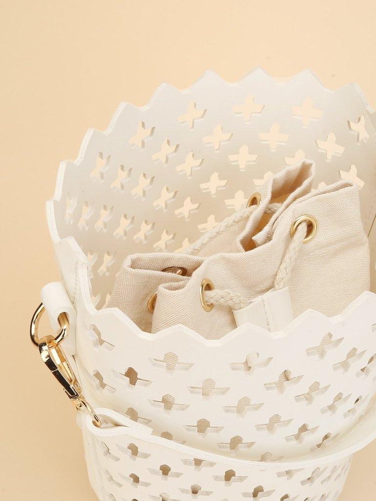 Laser Cut Bucket Bag Inner Pouch 8