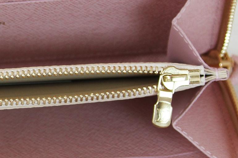 Louis Vuitton Damier Azur Canvas Rose Ballerine Clemence Wallet N61264 004