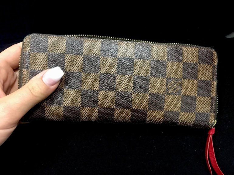 Louis Vuitton Damier Ebene Canvas Clemence Wallet N60534 005
