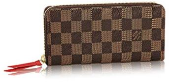 Louis Vuitton Damier Ebene Canvas Clemence Wallet N60534