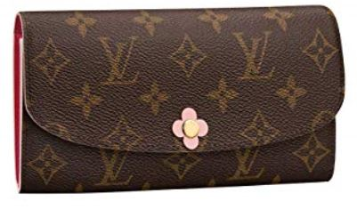 Louis Vuitton Monogram Canvas Emilie Wallet Pink Article M64202 001