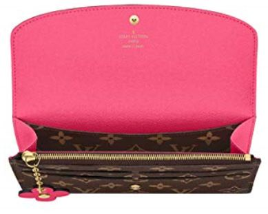 Louis Vuitton Monogram Canvas Emilie Wallet Pink Article M64202 002