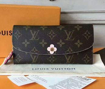Louis Vuitton Monogram Canvas Emilie Wallet Pink Article M64202 003