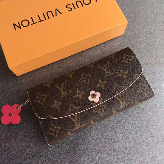 Louis Vuitton Monogram Canvas Emilie Wallet Pink Article M64202 004