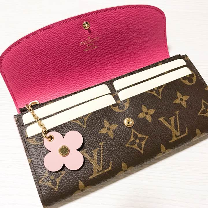 Louis Vuitton Monogram Canvas Emilie Wallet Pink Article M64202 006