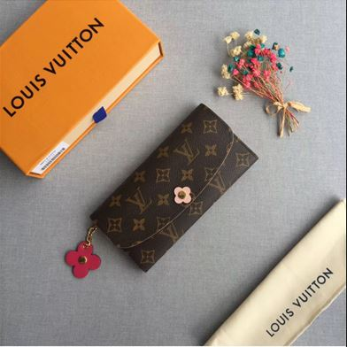 Louis Vuitton Monogram Canvas Emilie Wallet Pink Article M64202 007