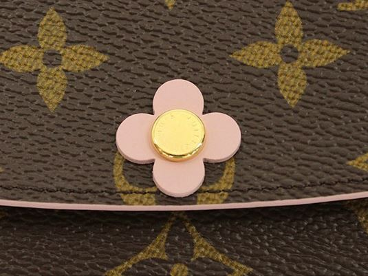 Louis Vuitton Monogram Canvas Emilie Wallet Pink Article M64202 008