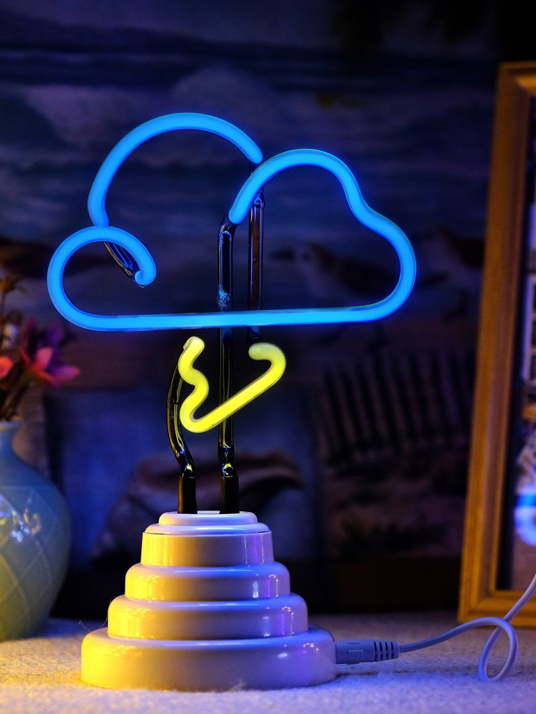 Neon Cloud Shaped Table Lamp 2