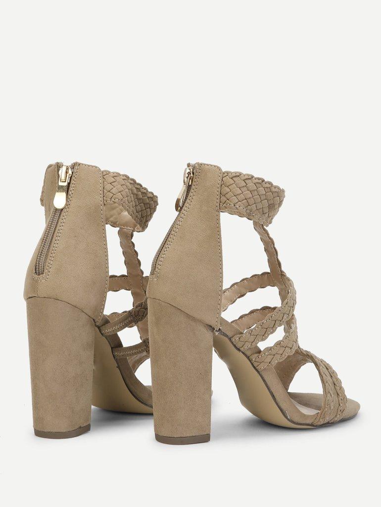 Plaited Detail Heeled Sandals 3