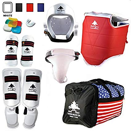 01 Pine Tree Complete Vinyl Martial Arts Sparring Gear Set