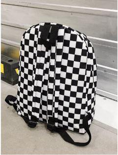 02 Detail Metal Ring Backpack in Black & White B