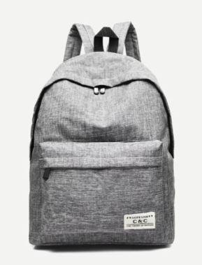03 Pocket Front Slate Grey Backpack A