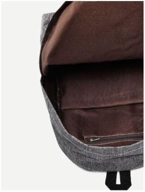 03 Pocket Front Slate Grey Backpack B