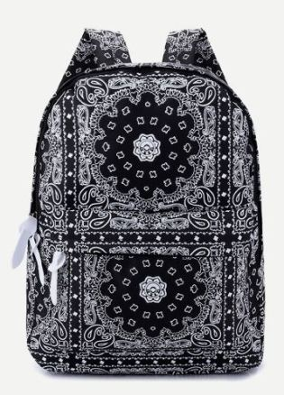 06 Boho Mandala Geometric Pattern Backpack A