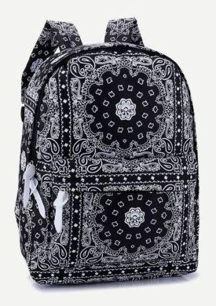 06 Boho Mandala Geometric Pattern Backpack B