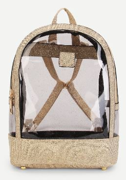 09 Clear Minimalist Gold Backpack A