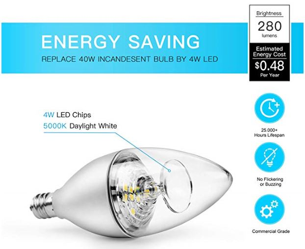 Amazon Candelabra LED Bulbs 40W 003