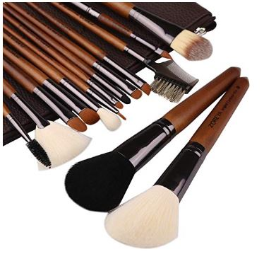 ZOREYA Makeup Brushes Real Walnut 15pc 1