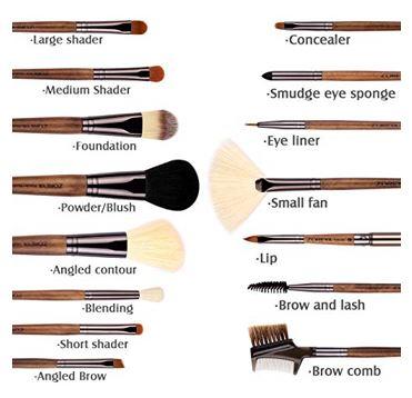 ZOREYA Makeup Brushes Real Walnut 15pc 2